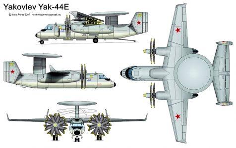 Самолт ДРЛО Як-44Э