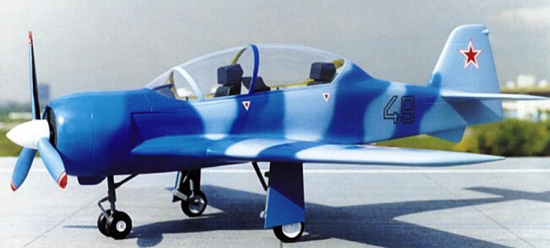 Легкогкий учебно-тренировочный самолет Су-39/49