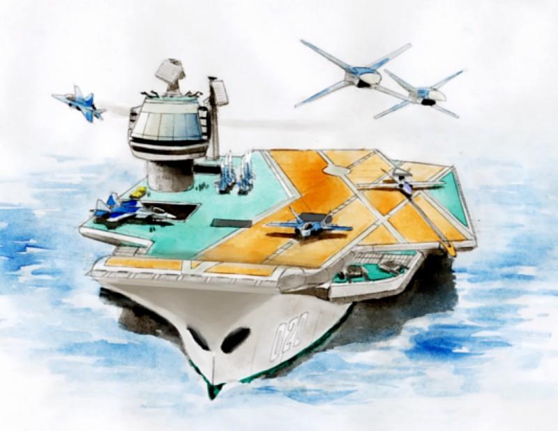 Перспективный авианосец для ВМФ России