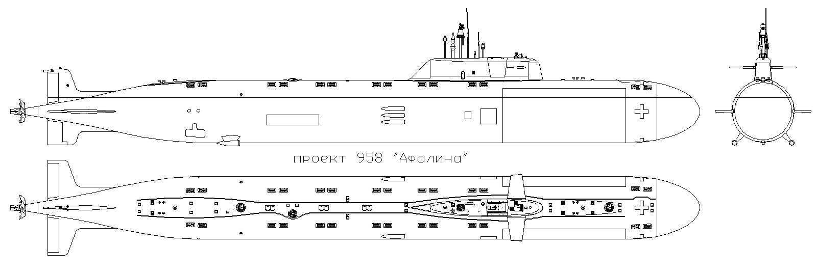 ПРОЕКТ 958 Афалина (Подводная Лодка)